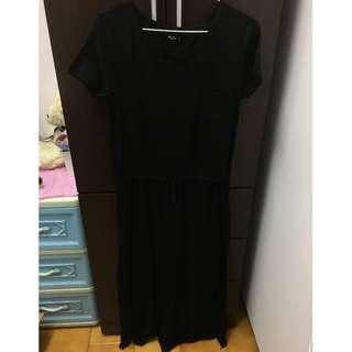 【喵喵二手專區】NET 長版短袖黑色洋裝 二手衣 便宜出售