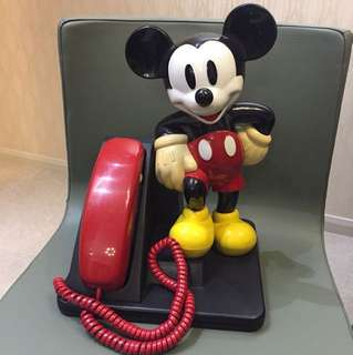 1970 年代 Disney 正版古董米奇電話 日本限定版 35cm高 $1380