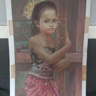 """Lukisan """"Gadis Bali"""""""