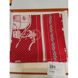 Hermes Scarf Red (New)