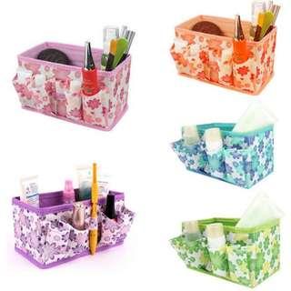Kotak Penyimpanan Rak Kosmetik Storage Organizer Flower