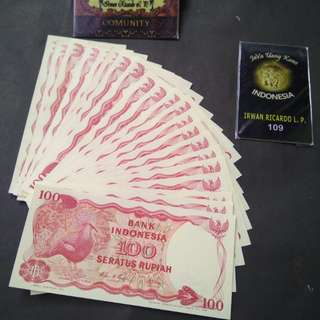 Uang kuno / Uang lama 100 rupiah goura victoria