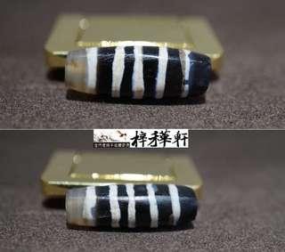 【天珠】精品藏傳千年老九線饟蝕線珠