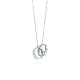 Tiffany interlocking rings necklace