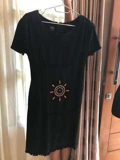 Casual Denim Black Dress