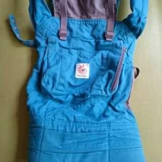 Ergobaby二手背巾原創款藍綠色
