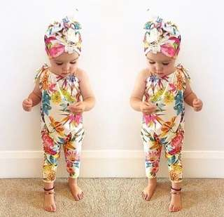 Floral Baby Jumpsuit Sleeveless