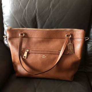 Almost BN Authentic Coach Leather Bag