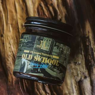 Vegan handmade - Saigon huslers POMADE OLD SCHOOL - 4oz - STRONG HOLD Undercut hair wax gel