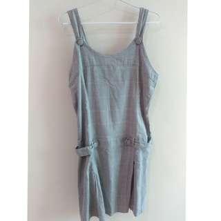 Cool Teen Grey Overall Dress