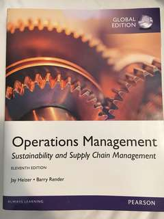 Operations Management: Sustainability and Supply Chain Management. Global edition. 9780273787075