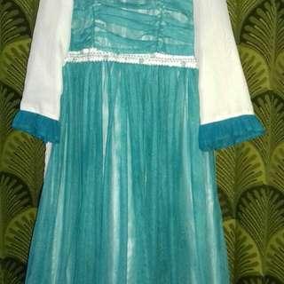 Dress gamis anak muslim saffron