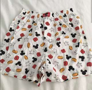 Mickey Mouse Head Boxer Shorts