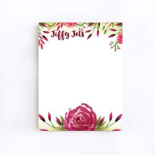 Jiffy Jots Notepad: Fresh Blooms