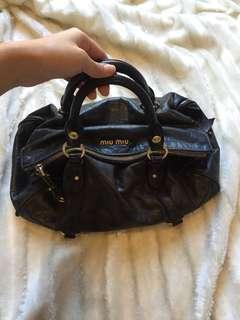 AUTHENTIC MIU MIU Vitello Lux Bow Bag