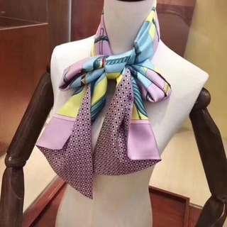 Hermès 粉絲 🎀Maxi Twilly 100%silk