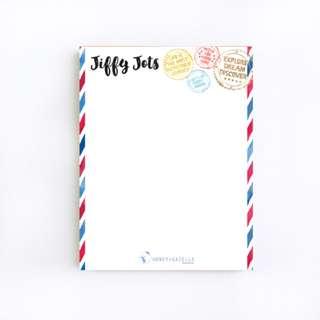 Jiffy Jots Notepad: Travel Edition