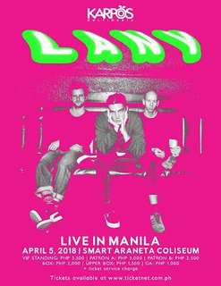 LANY 2nd day UPPER BOX tickets