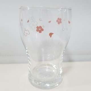 韓國櫻花玻璃可樂杯