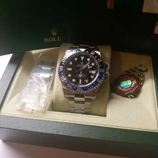(Sold)Rolex 116710 BLNR GMT II 藍黑亂碼888
