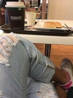 High waist BF jeans