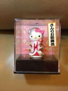 日本2001年 歌舞伎 Hello Kitty 雪姫 和服 擺設