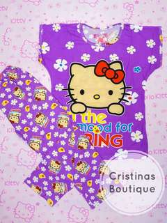 Hello Kitty Floral Sleepwear Set