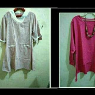 Blus pink 2 pc