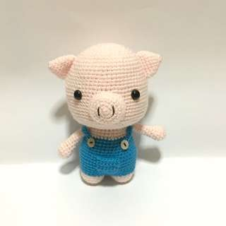 Pig in Suspenders [Amigurumi]