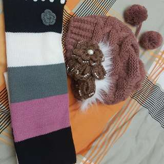 Scarf and Bonnet