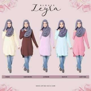 MUSLIMAH COLLECTION (BLOUSE) BLOUSE ZEYRA