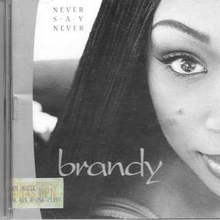 MY PRELOVED CD - BRANDY  NEVER SAY NEVER - /FREE DELIVERY (F3E))