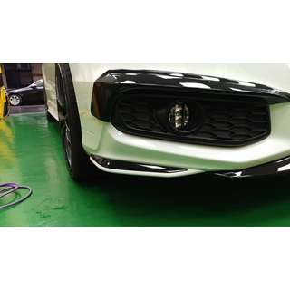 【騰信車體包膜】Honda Odyssey前保桿飛鏢美國AVERY高亮黑包膜