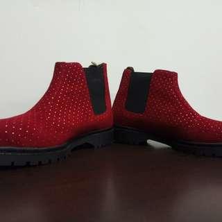 Sepatu boots irish bb maroon merk nokha