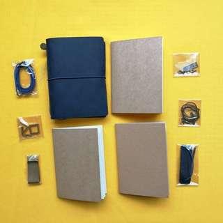 Passport genuine Leather Blue Travelers Notebook, planner, jpurnal