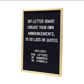 Rental: Letter Board For Wedding