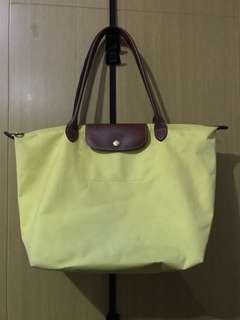Longchamp Yellow Long Handle Bag