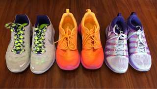 Nike womens roshe run, flyknit, tr fit 3-Take 3 for 6000