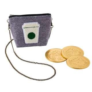 全新星巴克金幣巧克力含小側背包