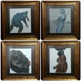 4 pieces contemporary painting by Purwadi Bali