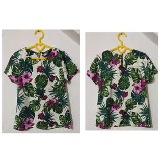 Floral Zipback Blouse