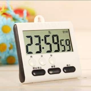 Digital clock and countdown timer kitchen helper