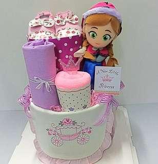 2-tier Diaper Cake - Disney Frozen Princess