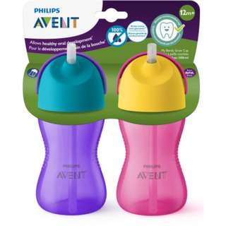 10oz Philips Avent My Bendy Straw Cup, 12m+ (Twin Pack)