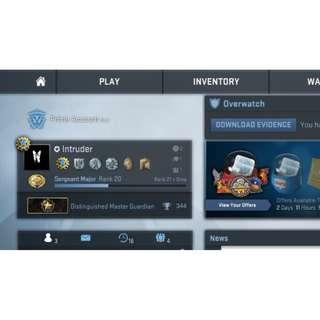 CSGO Prime Account - Distinguished Master Guardian (DMG) + 23 Games