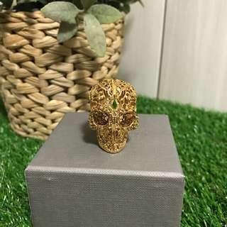 Alexander McQueen Skull Ring Size 11