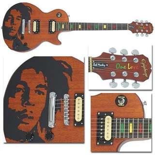 2003 Ltd. Etd. Ephiphone Les Paul Bob Marley Guitar