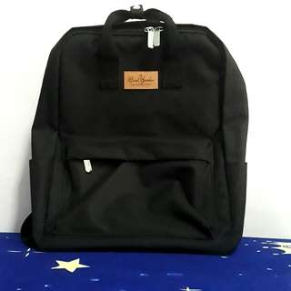 Fashion trending black backpack