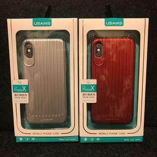 iPhone X 手機殻 旅行箱款 超輕超薄 兩色如圖
