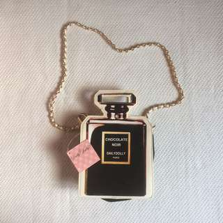 Dior-inspired Daily Dolly Noir Chain bag